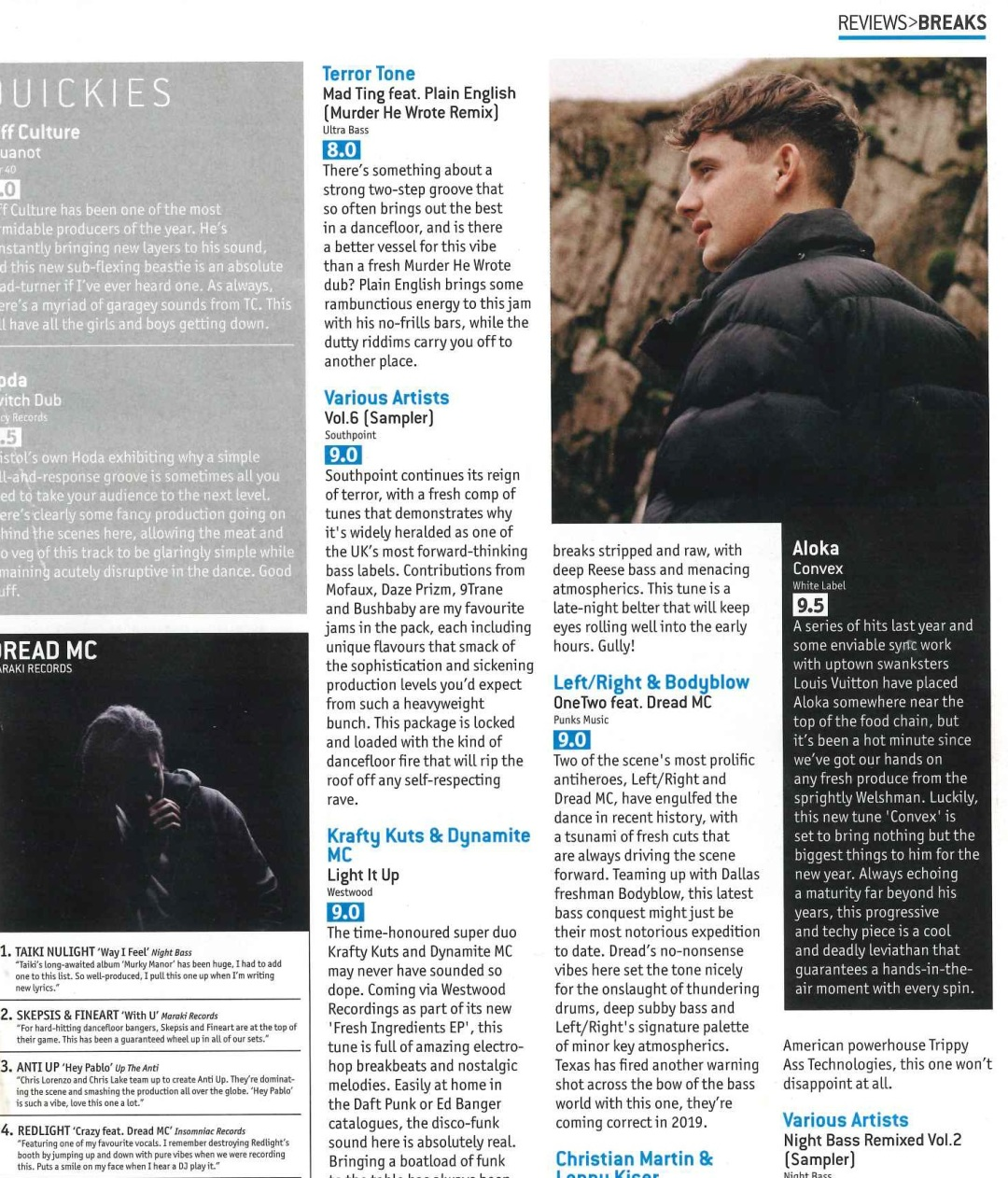 Terror tone Mad Ting djmag scan